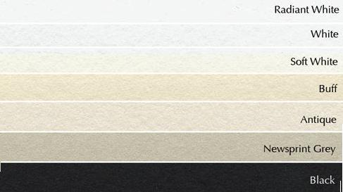 Below You See The Diffe Colours From Radiant White Soft Off To Buff Antique And Black Somerset Papers Are Always